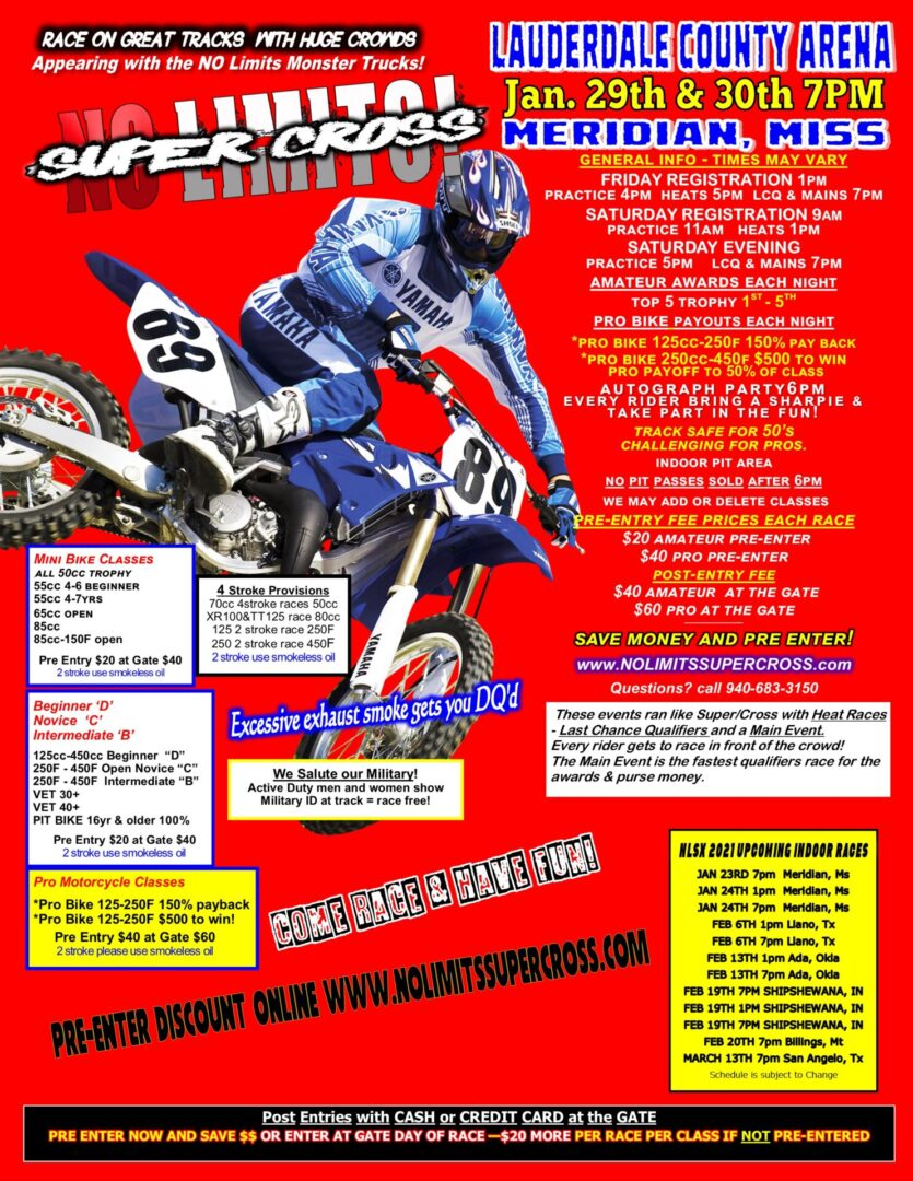 Meridian supercross flyer 21